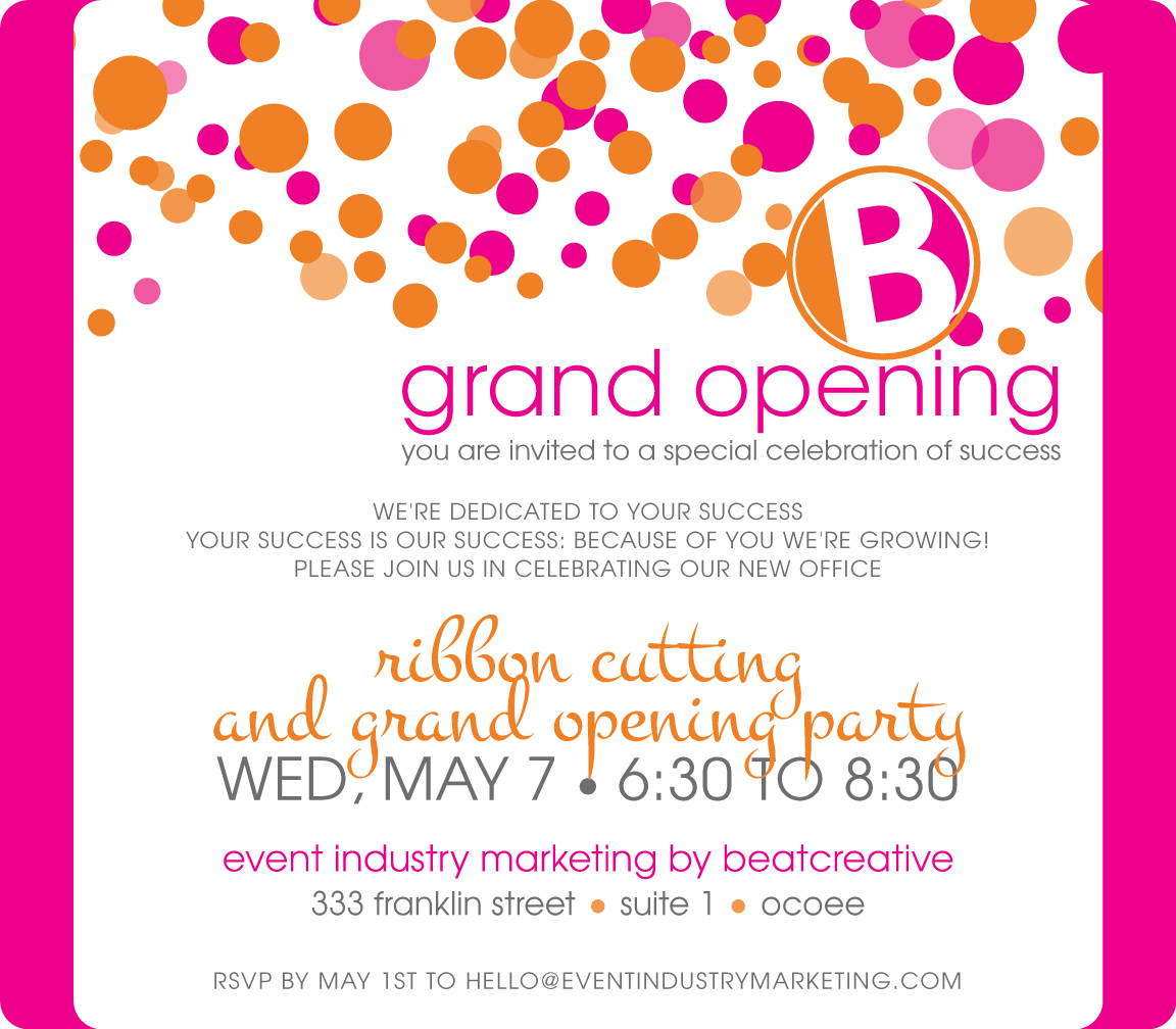 Exciting News Its a Grand Opening BeatCreative Marketing