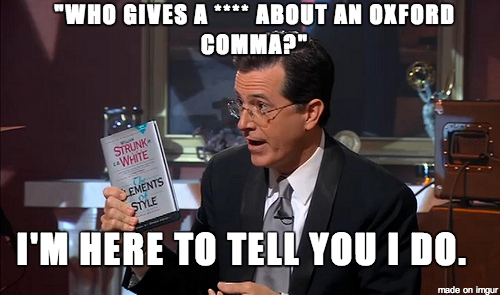 The Colbert Report Oxford Comma