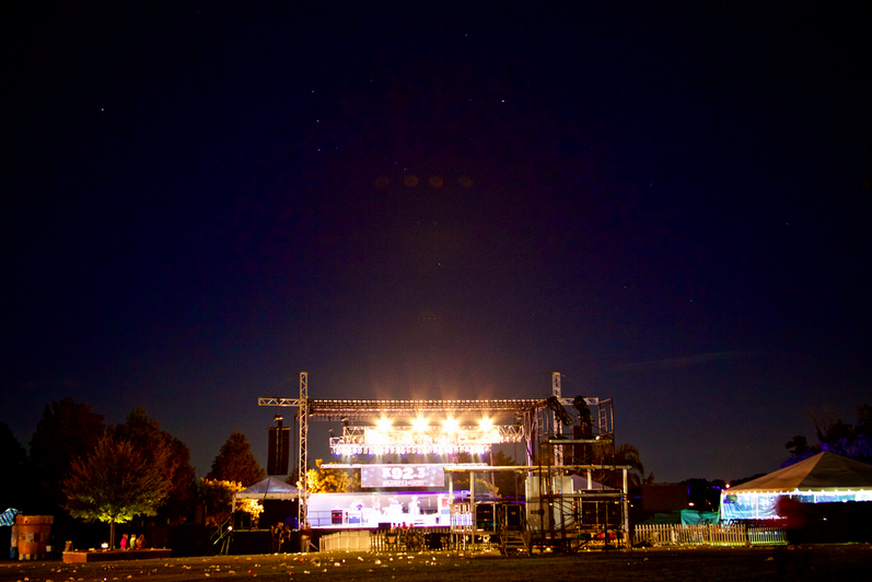 Stage at night