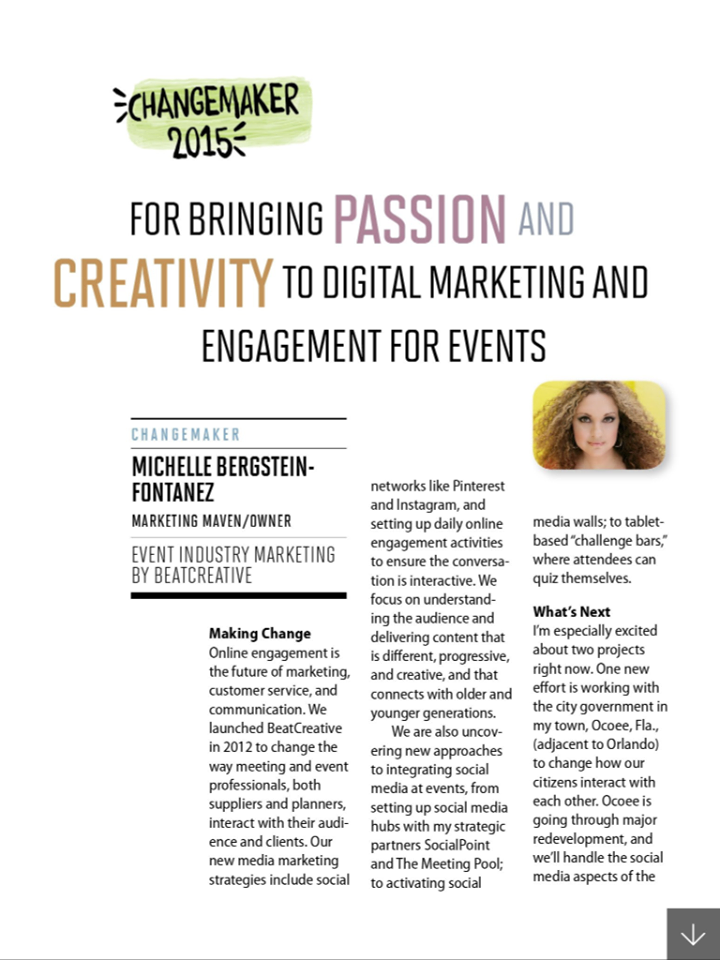 Beat Creative, ChangeMaker 2015, Michelle Bergstein