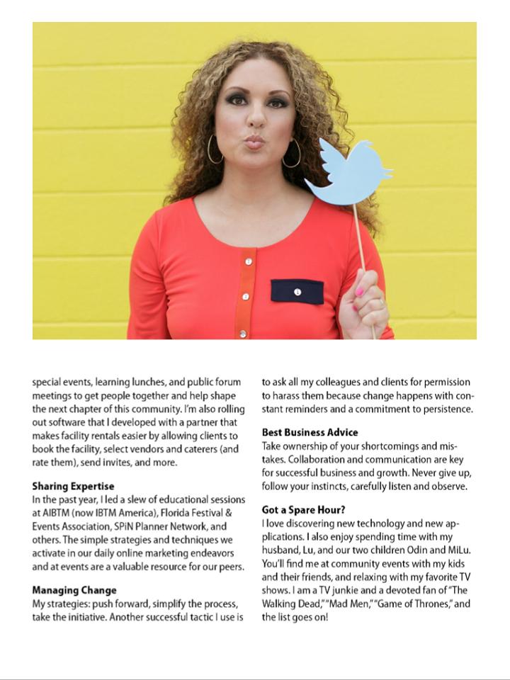 Beat Creative, MeetingsNet, ChangeMaker 2015, Michelle Bergstein