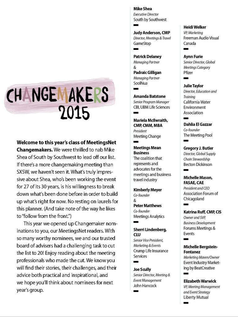 MeetingsNet 2015 ChangeMakers