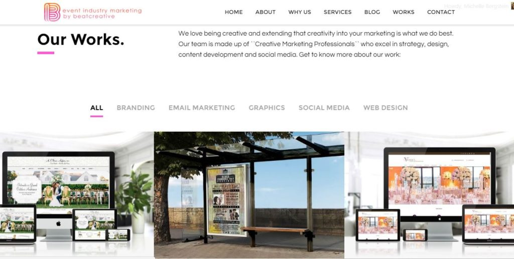 Event Industry Marketing by BeatCreative Launches New Website