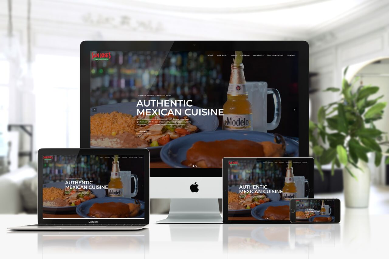 responsive website design san jose original mexican restaurant ocoee florida