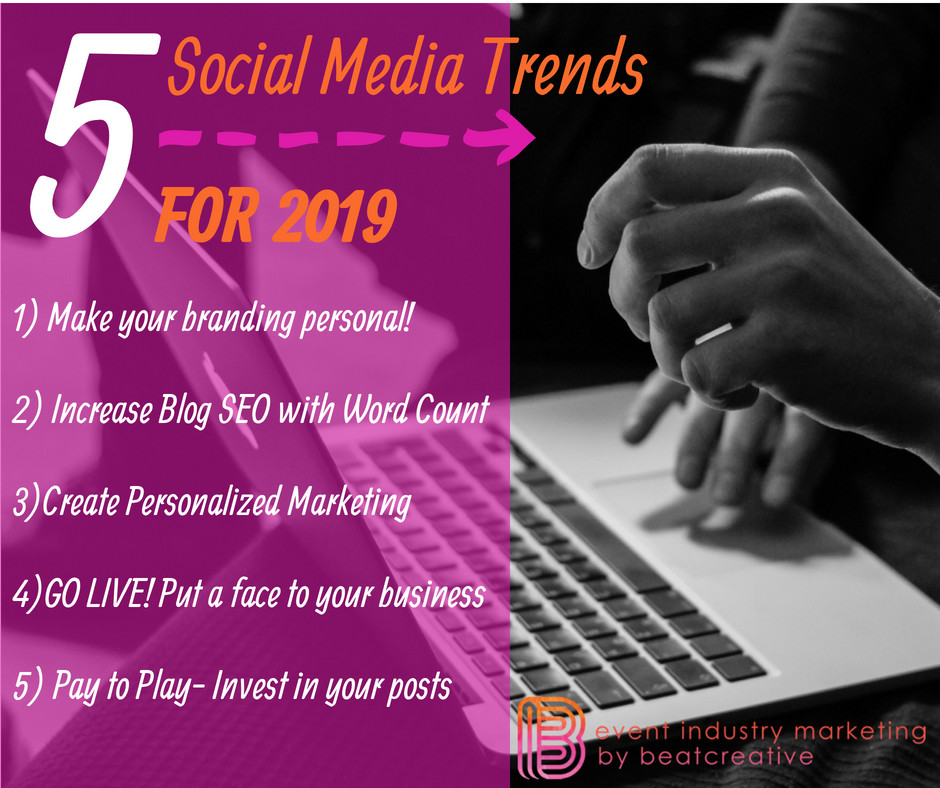 Beat Creative, Event Industry Marketing, Social Media Trends 2019