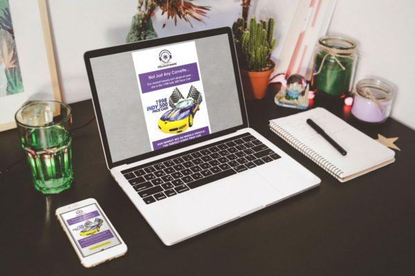 DJ Vehicles Corvette prop car email marketing design