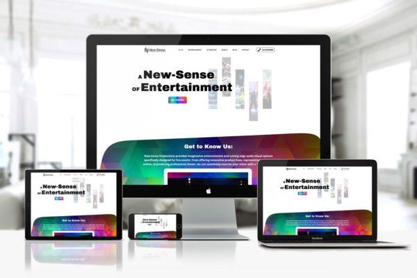 New Sense productions - entertainment website