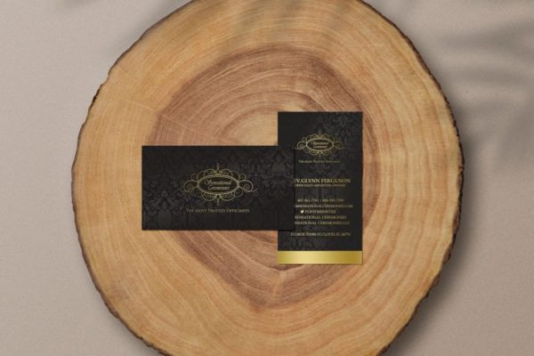wedding officiant business card design